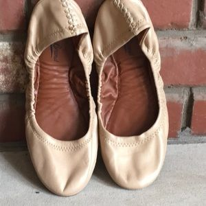 Lucky Brand Tan Flexible Ballet Flats size 8.5